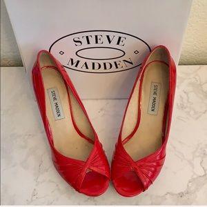 Steve Madden: Red Peep Toe Heels Size 6